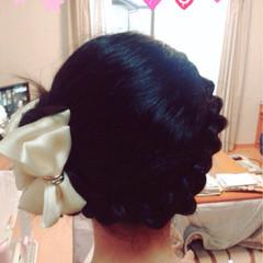 三つ編み ヘアアレンジ 編み込み ロング ヘアスタイルや髪型の写真・画像