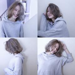 シルバー パープル ブリーチ グレー ヘアスタイルや髪型の写真・画像