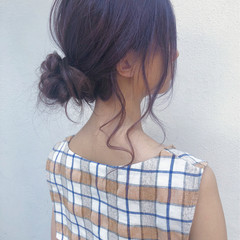ヘアアレンジ 簡単ヘアアレンジ セルフアレンジ ナチュラル ヘアスタイルや髪型の写真・画像