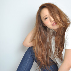 フェミニン かわいい 大人かわいい ロング ヘアスタイルや髪型の写真・画像