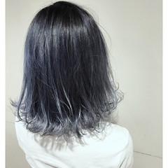 ハイライト バレイヤージュ アッシュ 透明感 ヘアスタイルや髪型の写真・画像