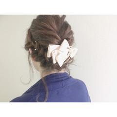結婚式 アッシュ 編み込み 簡単ヘアアレンジ ヘアスタイルや髪型の写真・画像