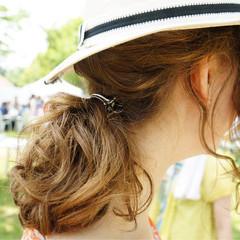 大人女子 ヘアアレンジ 外国人風 ヘアアクセ ヘアスタイルや髪型の写真・画像