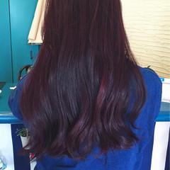 レッド ストリート ピンク ロング ヘアスタイルや髪型の写真・画像