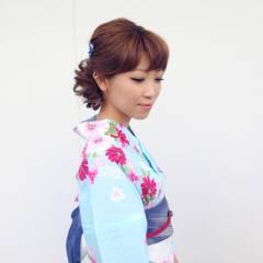 アップスタイル 着物 ヘアアレンジ 夏 ヘアスタイルや髪型の写真・画像
