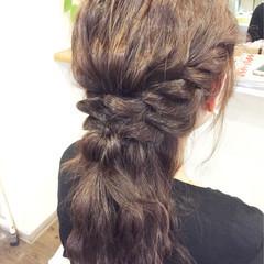 ヘアアレンジ ロング ガーリー アッシュ ヘアスタイルや髪型の写真・画像
