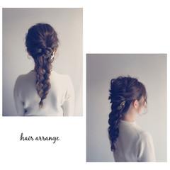 ロング ヘアアレンジ 簡単ヘアアレンジ ショート ヘアスタイルや髪型の写真・画像