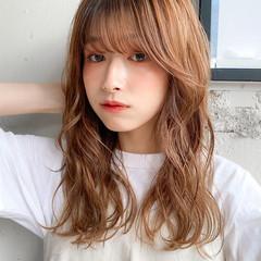 パーマ ミルクティーベージュ デジタルパーマ くびれカール ヘアスタイルや髪型の写真・画像