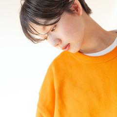 パーマ ショート アンニュイほつれヘア ナチュラル ヘアスタイルや髪型の写真・画像