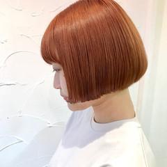 ブリーチ ボブ ヘアカラー ガーリー ヘアスタイルや髪型の写真・画像