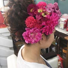 ヘアアレンジ 上品 セミロング 結婚式 ヘアスタイルや髪型の写真・画像