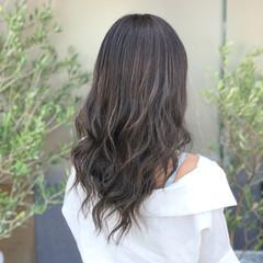 透明感 グレージュ 外国人風カラー セミロング ヘアスタイルや髪型の写真・画像
