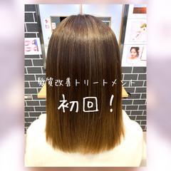 髪質改善カラー モテ髪 ナチュラル セミロング ヘアスタイルや髪型の写真・画像