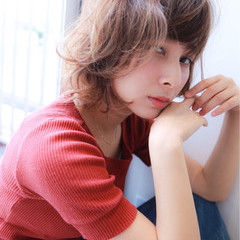ショートボブ パーマ ボブ 外国人風カラー ヘアスタイルや髪型の写真・画像