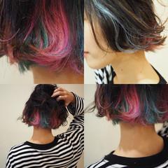 ウェットヘア こなれ感 モード ボブ ヘアスタイルや髪型の写真・画像