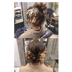 セミロング ヘアアレンジ ガーリー 成人式 ヘアスタイルや髪型の写真・画像