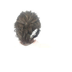 ショート 編み込み セミロング ルーズ ヘアスタイルや髪型の写真・画像