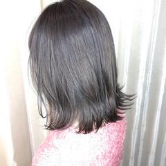 グレー ナチュラル ボブ グレージュ ヘアスタイルや髪型の写真・画像