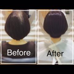 髪質改善カラー 大人カジュアル エレガント ボブ ヘアスタイルや髪型の写真・画像