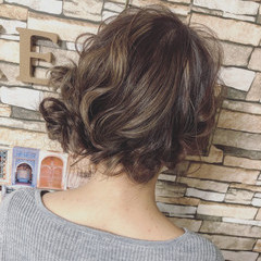 フェミニン セミロング ヘアセット ふわふわヘアアレンジ ヘアスタイルや髪型の写真・画像