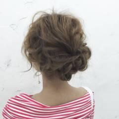 モテ髪 ナチュラル ヘアアレンジ ゆるふわ ヘアスタイルや髪型の写真・画像