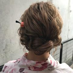 ヘアアレンジ アウトドア デート フェミニン ヘアスタイルや髪型の写真・画像