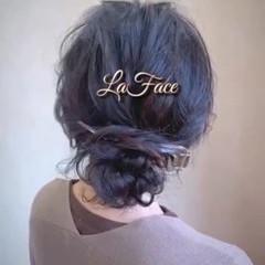 ナチュラル シニヨン ロング ヘアアレンジ ヘアスタイルや髪型の写真・画像