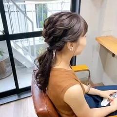 ミディアム 簡単ヘアアレンジ ふわふわヘアアレンジ ブルーアッシュ ヘアスタイルや髪型の写真・画像