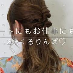 セミロング ナチュラル 簡単ヘアアレンジ 結婚式 ヘアスタイルや髪型の写真・画像
