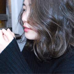 ブルージュ ボブ アッシュ 透明感 ヘアスタイルや髪型の写真・画像