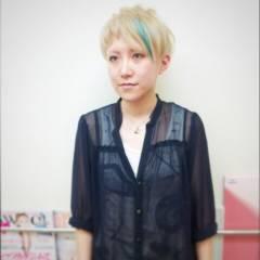 アッシュ グラデーションカラー ブルー 黒髪 ヘアスタイルや髪型の写真・画像