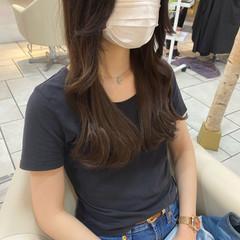 ロング ヨシンモリ 韓国ヘア 韓国風ヘアー ヘアスタイルや髪型の写真・画像