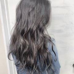 ロング ブルーブラック エレガント 黒髪 ヘアスタイルや髪型の写真・画像