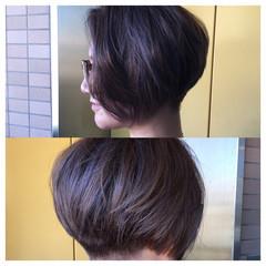 ハイライト 刈り上げ ショート 大人女子 ヘアスタイルや髪型の写真・画像