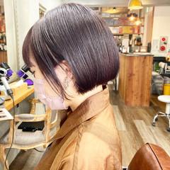 ストリート インナーカラー ショートボブ ボブ ヘアスタイルや髪型の写真・画像