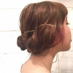 簡単ヘアアレンジ ボブ ヘアアレンジ パーティ ヘアスタイルや髪型の写真・画像