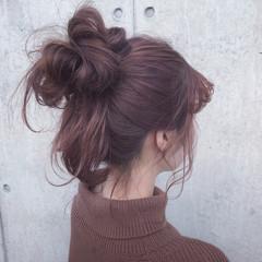 アンニュイほつれヘア セミロング 簡単ヘアアレンジ 表参道 ヘアスタイルや髪型の写真・画像