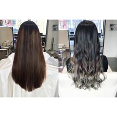 ロング グラデーションカラー イルミナカラー モード ヘアスタイルや髪型の写真・画像