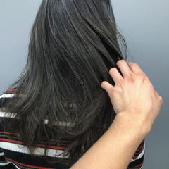 ブルージュ アッシュグラデーション 暗髪 ナチュラル ヘアスタイルや髪型の写真・画像