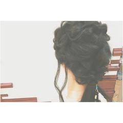 ナチュラル ヘアアレンジ ゆるふわ ロング ヘアスタイルや髪型の写真・画像