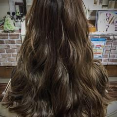 ニュアンス アッシュ 暗髪 ロング ヘアスタイルや髪型の写真・画像