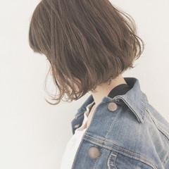 切りっぱなし 外国人風カラー ボブ リラックス ヘアスタイルや髪型の写真・画像