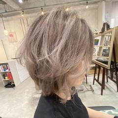 ナチュラル ホワイトハイライト ショート ショートヘア ヘアスタイルや髪型の写真・画像