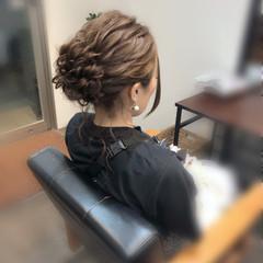 アップスタイル 結婚式 フェミニン アップ ヘアスタイルや髪型の写真・画像