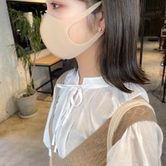 ミディアム アッシュグレージュ 透明感カラー アッシュベージュ ヘアスタイルや髪型の写真・画像