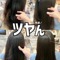 髪質改善 セミロング ナチュラル ブリーチなし ヘアスタイルや髪型の写真・画像