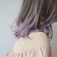 ミディアム アッシュ 上品 透明感 ヘアスタイルや髪型の写真・画像