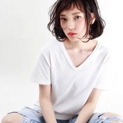 ミディアム デート 抜け感 女子会 ヘアスタイルや髪型の写真・画像