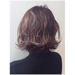 外国人風 グラデーションカラー ミディアム モード ヘアスタイルや髪型の写真・画像