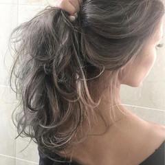 アッシュ ヘアアレンジ ロング 外国人風カラー ヘアスタイルや髪型の写真・画像